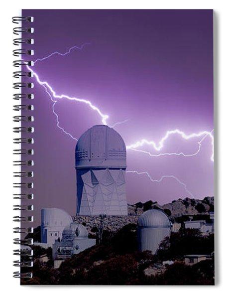 A Bolt Of Lightning Over An Observatory Spiral Notebook