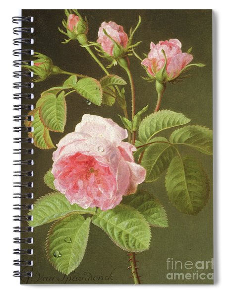 A Branch Of Roses Spiral Notebook