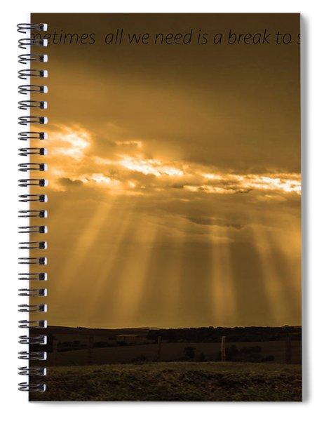 A Break Spiral Notebook