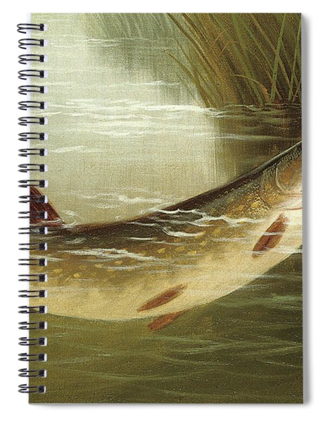 A Brown Trout Coming To The Gaff  Spiral Notebook