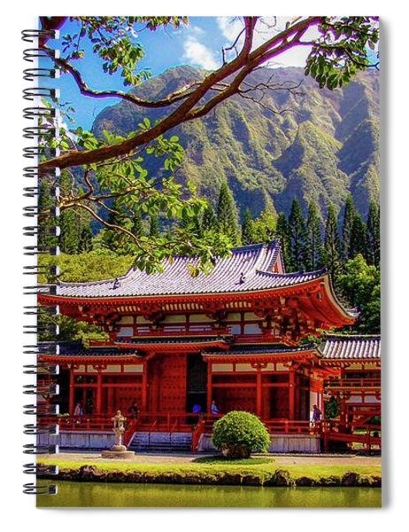 Buddhist Temple - Oahu, Hawaii - Spiral Notebook