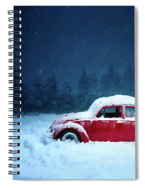 A Bug In The Snow Spiral Notebook