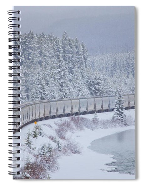 A Canadian Pacific Train Travels Along Spiral Notebook