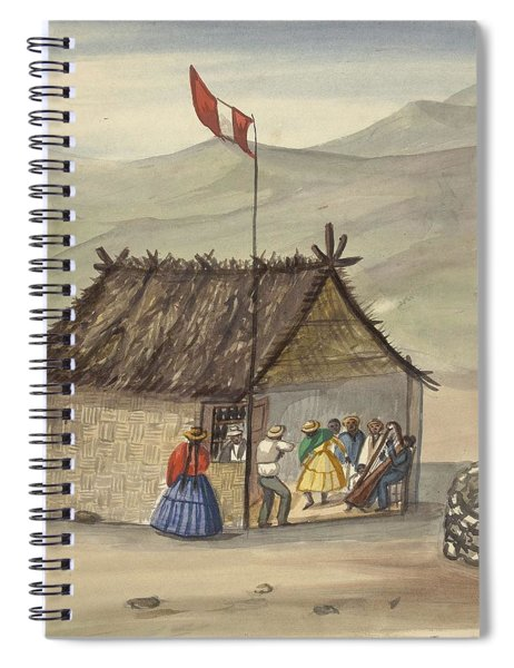 A Cane Rancho Or Hut Erected For The Purpose Of Dancing Lima Costumes, Ca. 1853 ,fierro, Pancho,  Spiral Notebook