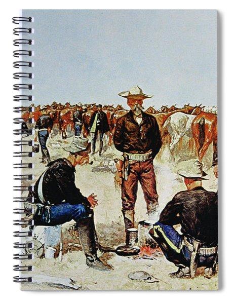 A Cavalryman's Breakfast On The Plains Spiral Notebook