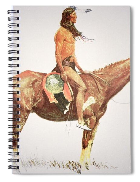 A Cheyenne Brave Spiral Notebook by Frederic Remington