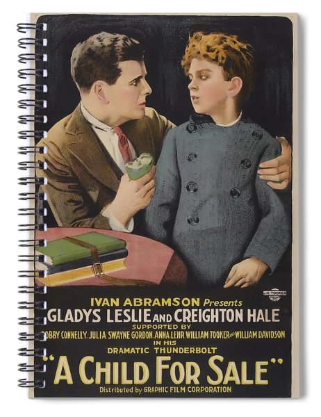 A Child For Sale 1920 Spiral Notebook