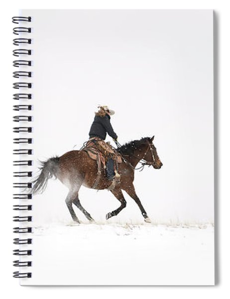 A Chilly Ride Spiral Notebook