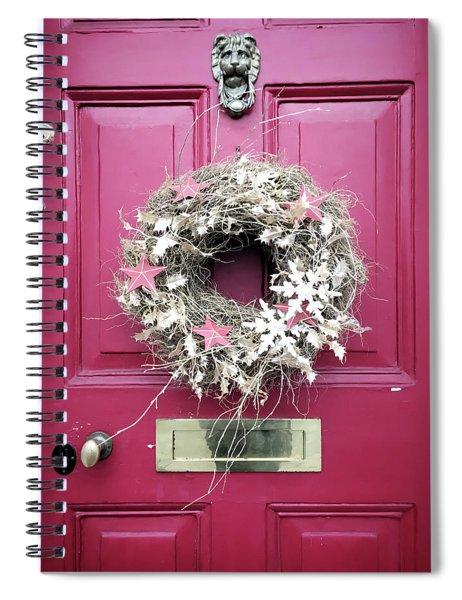 A Christmas Wreath Spiral Notebook