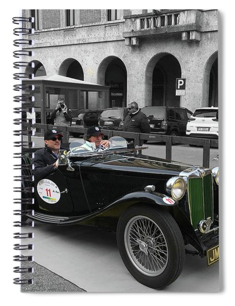 A Classic Vintage British Mg Car Spiral Notebook