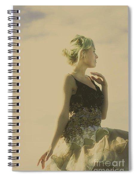 A Classical Beauty Portrait Spiral Notebook