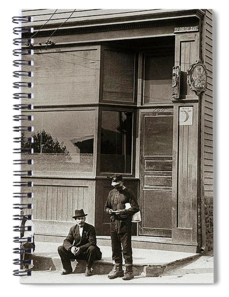 A Coal Miners Bar  George Ave Parsons Pennsylvania Early 1900s Spiral Notebook