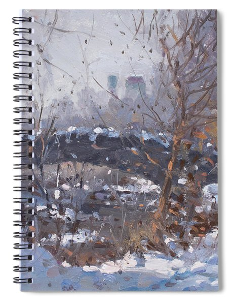 A Cold Sunny Day At Three Sisters Islands Spiral Notebook