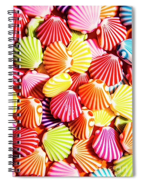 A Colourful Beach Background Spiral Notebook