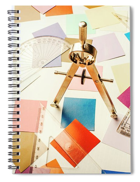 A Colourful Blueprint Spiral Notebook