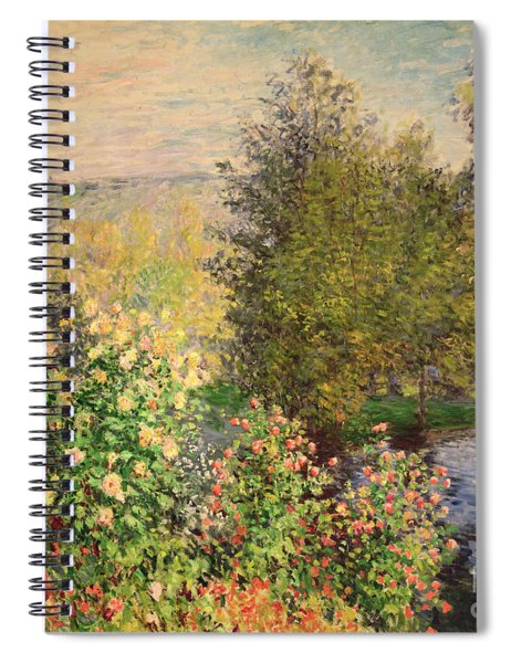 A Corner Of The Garden At Montgeron Spiral Notebook