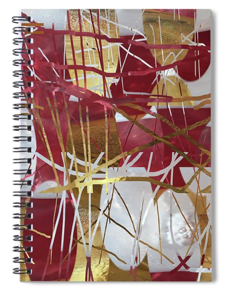 A Dance Of Rubies And Old Gold Spiral Notebook