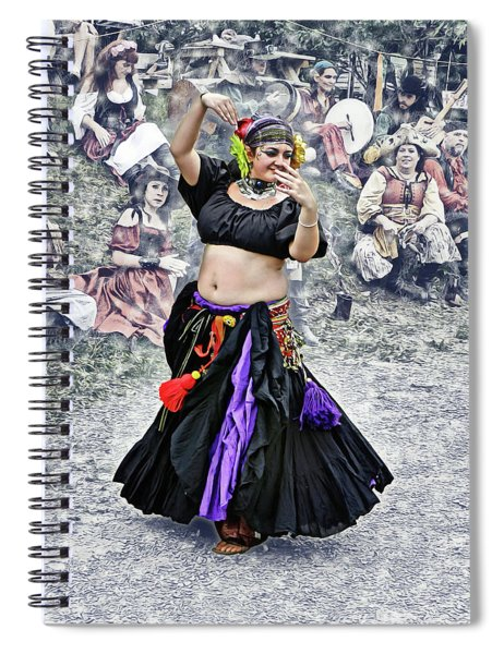 A Dancer Takes The Stage Spiral Notebook