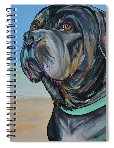 A Day At The Beach With Max Spiral Notebook