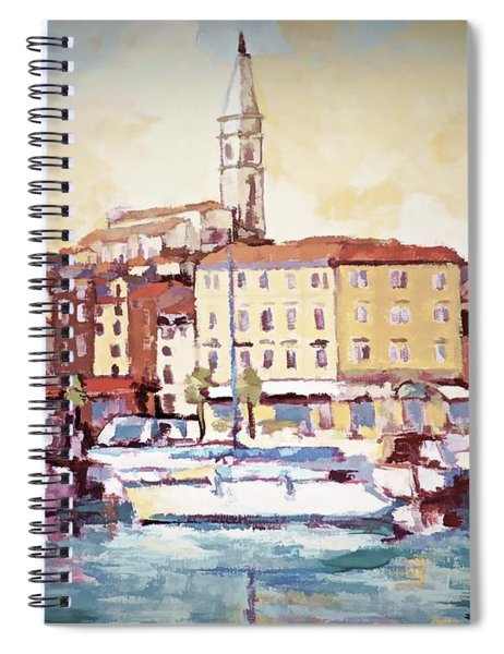 A Day In Old Town Rovinj Spiral Notebook