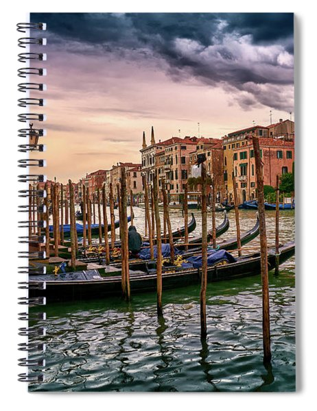 Surreal Seascape On The Grand Canal In Venice, Italy Spiral Notebook