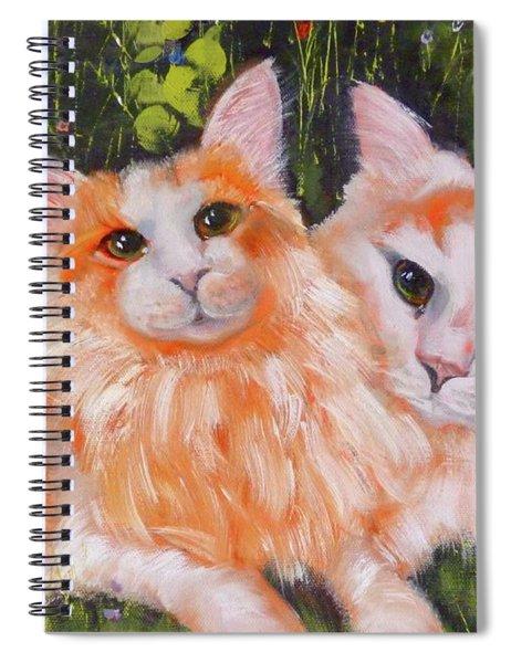 A Duet Of Kittens Spiral Notebook