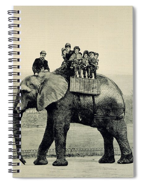 A Farewell Ride On Jumbo From The Illustrated London News Spiral Notebook