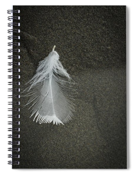 A Feather At The Edge Of The Water Spiral Notebook