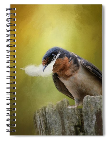 A Feather For Her Nest Spiral Notebook