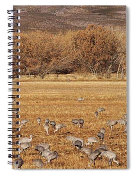 A Field Of Cranes Spiral Notebook