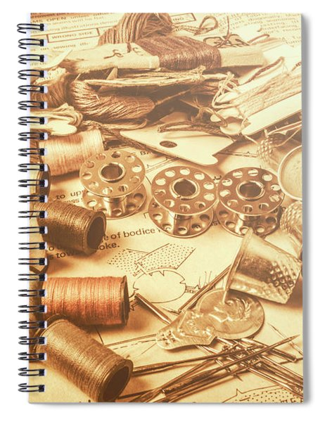 A Flare In Textile Repair Spiral Notebook