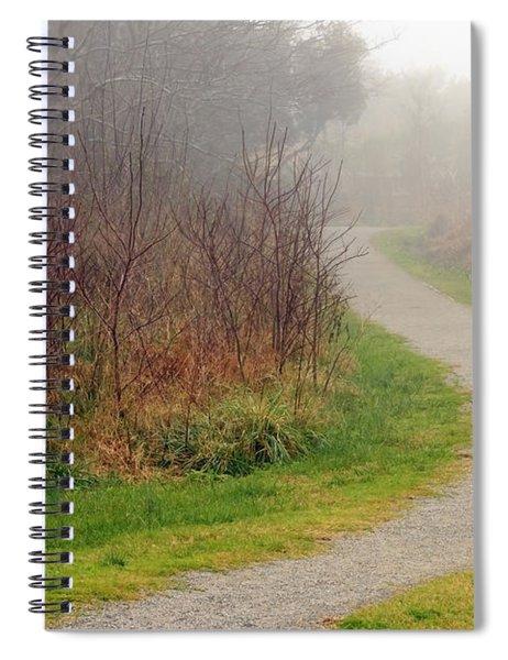 A Foggy Path Spiral Notebook