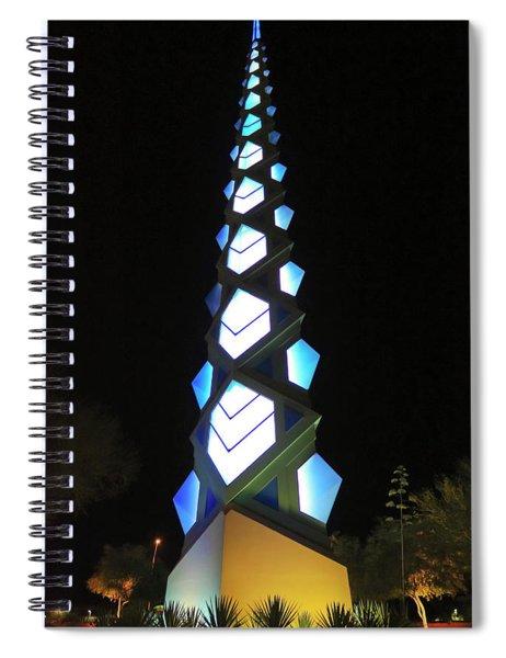 A Frank Lloyd Wright Spire Night Shot Spiral Notebook