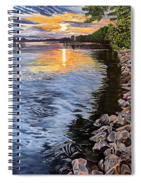 A Fraser River Sunset Spiral Notebook
