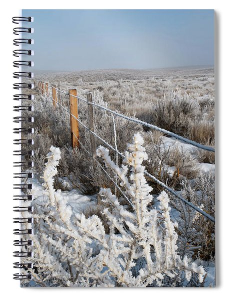 A Frosty And Foggy Morning On The Way To Steamboat Springs Spiral Notebook