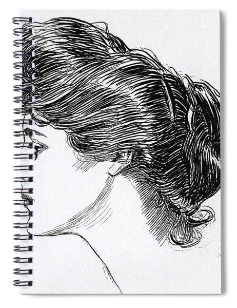 A Gibson Girl, 1902 Spiral Notebook