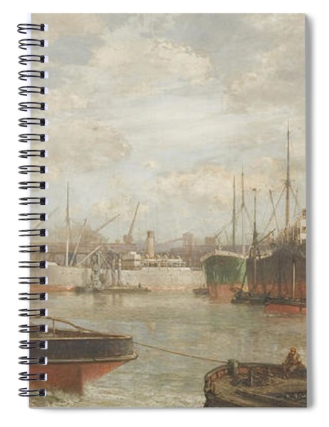 A Glimpse In 1920 Of The Royal Edward Dock, Avonmouth Spiral Notebook
