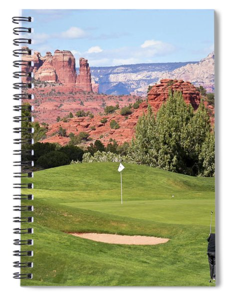 A Golfer Takes A Chip Shot From The Rough Spiral Notebook