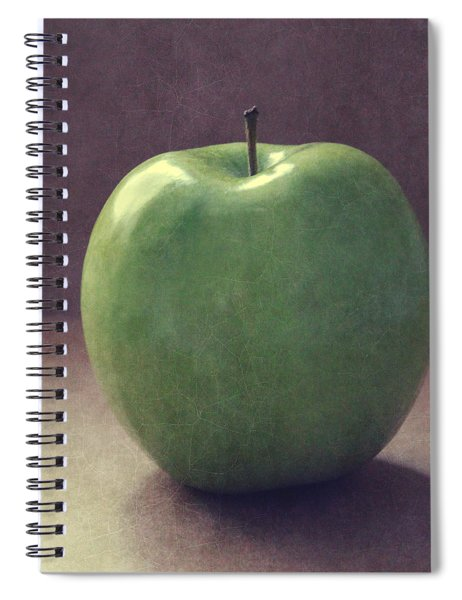 A Green Apple- Art By Linda Woods Spiral Notebook