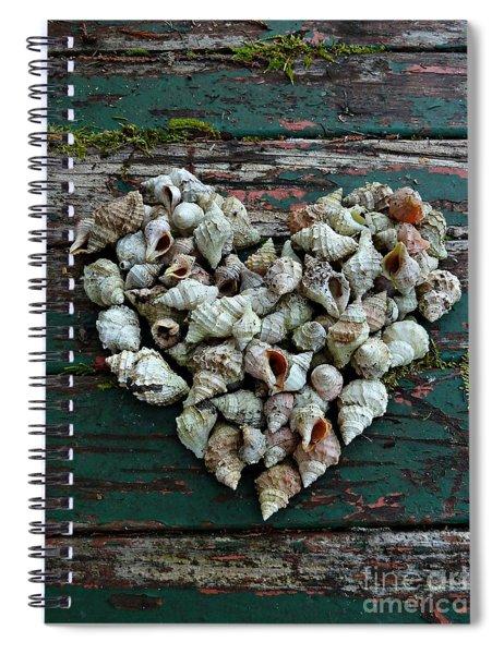 A Heart Made Of Shells Spiral Notebook