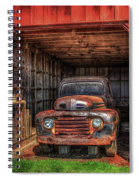 A Hiding Place 1949 Ford Pickup Truck Spiral Notebook