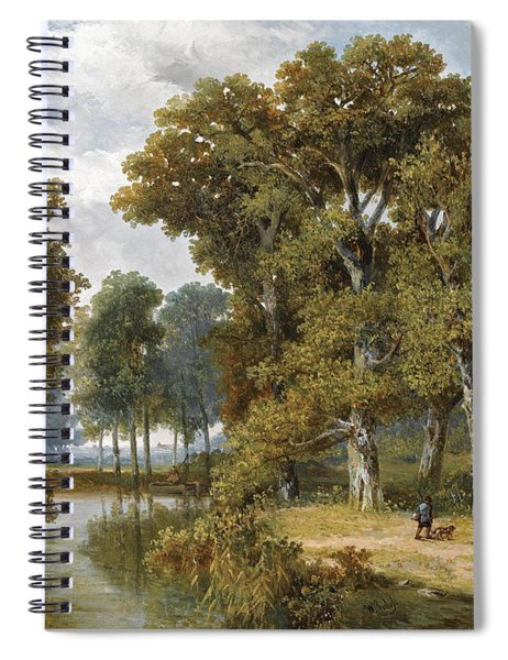 A Hunter And An Angler In A Wooded Landscape Spiral Notebook
