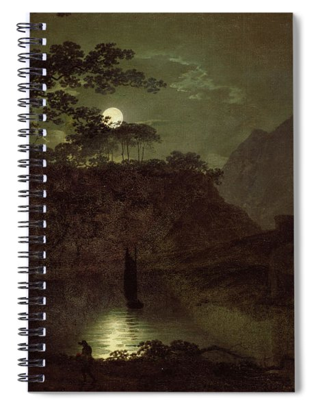 A Lake By Moonlight Spiral Notebook