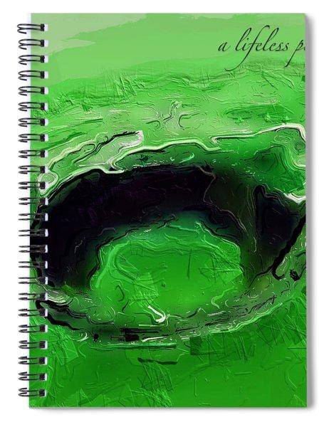 A Lifeless Planet Green Spiral Notebook