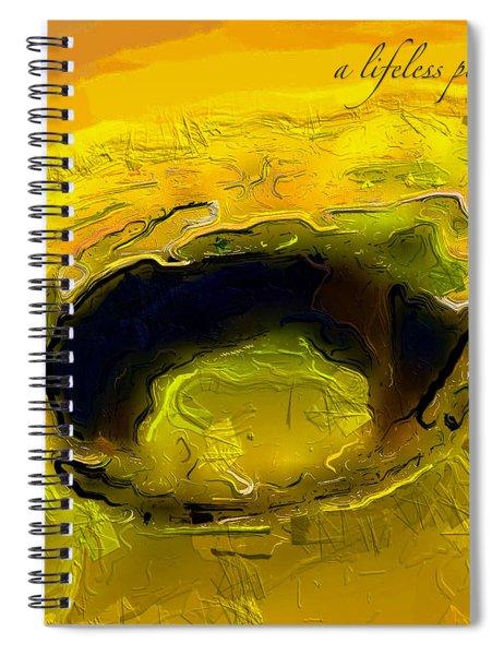A Lifeless Planet Yellow Spiral Notebook