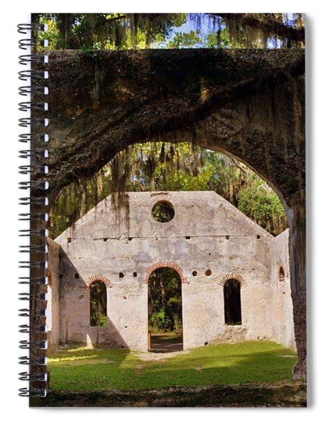 A Look Into The Chapel Of Ease St. Helena Island Beaufort Sc Spiral Notebook