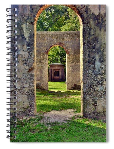 A Look Through Chapel Of Ease St. Helena Island Beaufort Sc Spiral Notebook