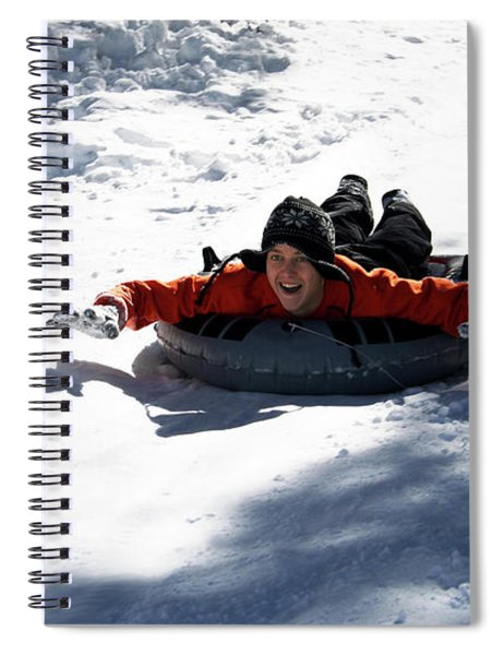 A Man Tubing, Flagstaff, Arizona, Usa Spiral Notebook