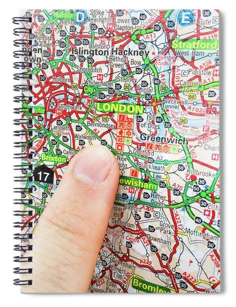A Map Of London Spiral Notebook