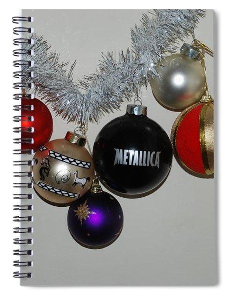 A Metallica Xmas Spiral Notebook